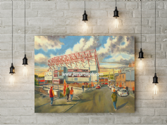 valley parade  going to the match canvas a2 size